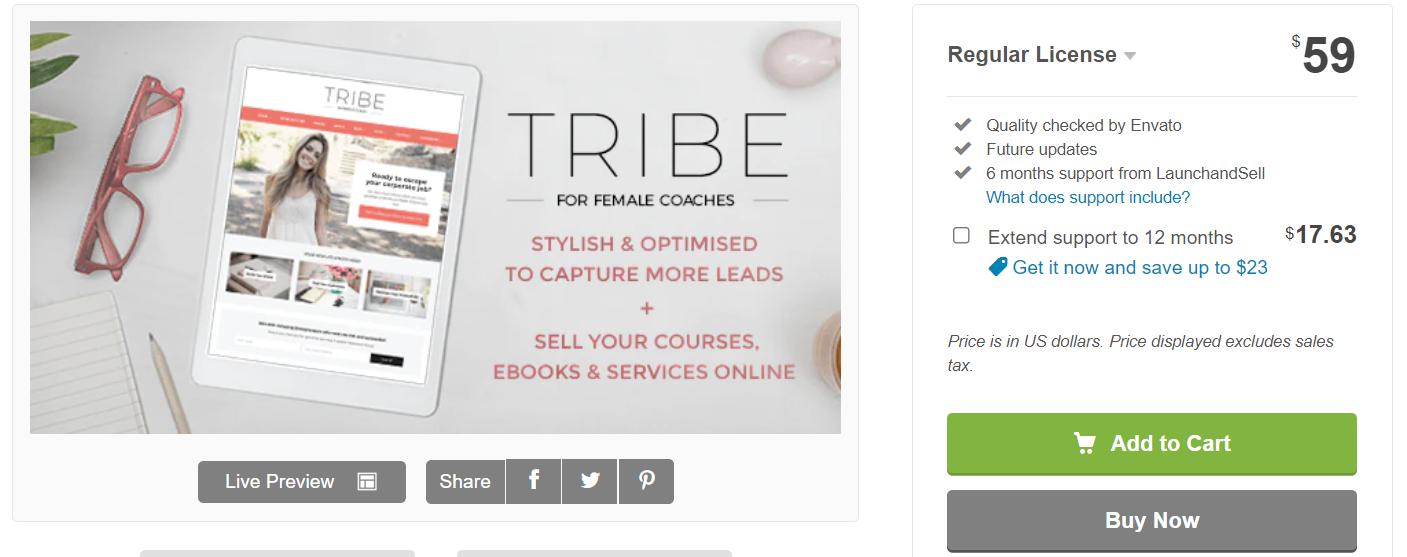 Feminine WordPress Themes Tribe