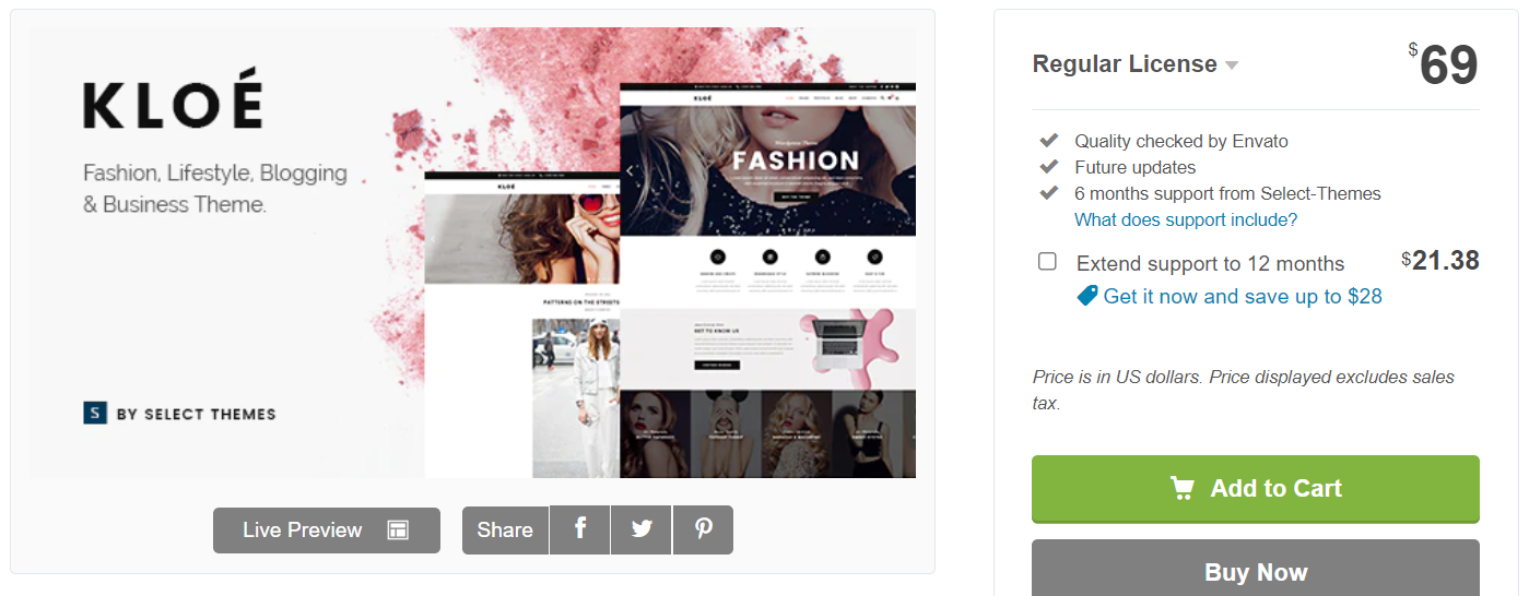 Feminine WordPress Themes Kole